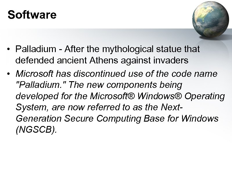 Software • Palladium - After the mythological statue that defended ancient Athens against invaders