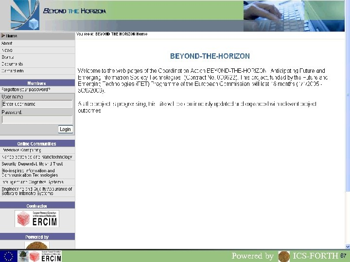www. beyond-the-horizon. net Powered by ICS-FORTH 67
