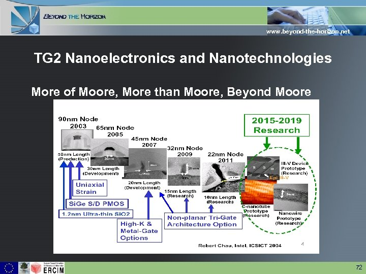 www. beyond-the-horizon. net TG 2 Nanoelectronics and Nanotechnologies More of Moore, More than Moore,