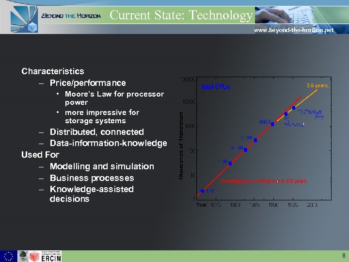 Current State: Technology www. beyond-the-horizon. net Characteristics – Price/performance • Moore's Law for processor