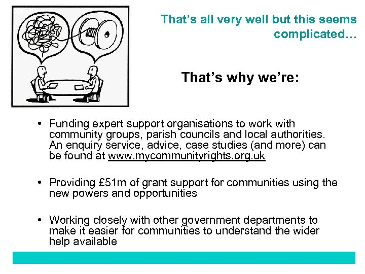 That's all very well but this seems complicated… That's why we're: • Funding expert