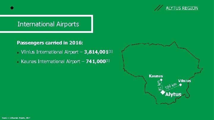 International Airports Passengers carried in 2016: Vilnius International Airport – 3, 814, 001[1] Kaunas