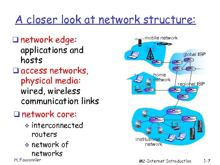 A closer look at network structure: q network edge: applications and hosts q access