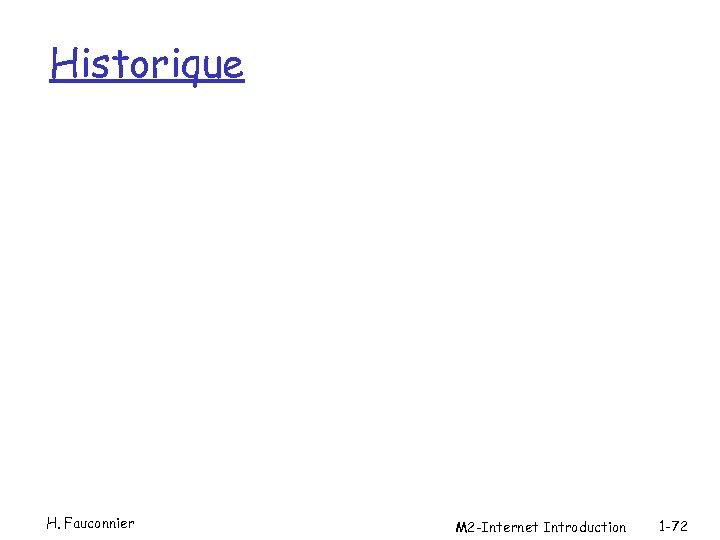 Historique H. Fauconnier M 2 -Internet Introduction 1 -72