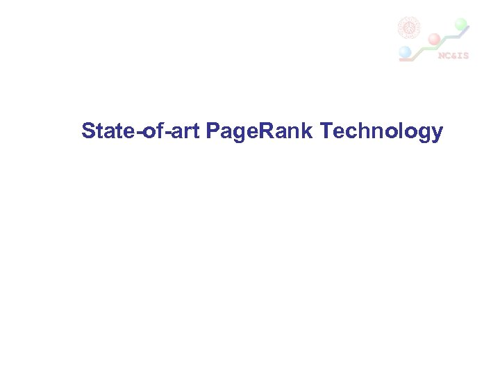 State-of-art Page. Rank Technology