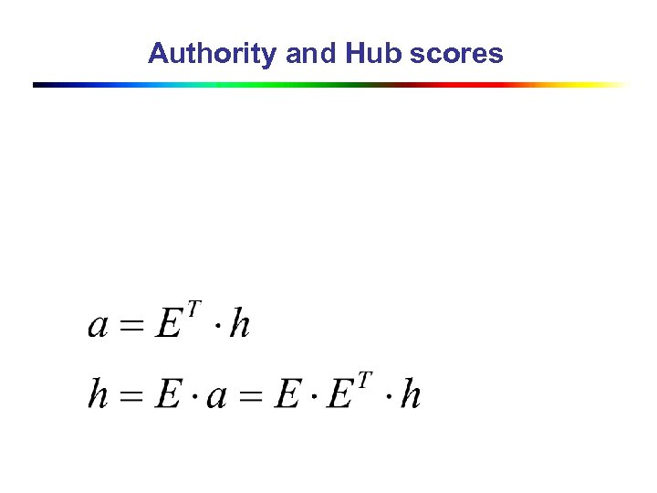 Authority and Hub scores