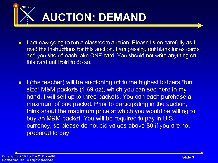 MB MC AUCTION: DEMAND n I am now going to run a classroom auction.