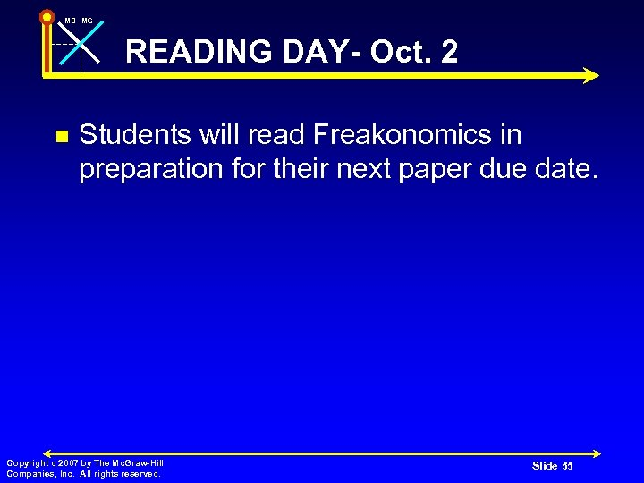 MB MC READING DAY- Oct. 2 n Students will read Freakonomics in preparation for