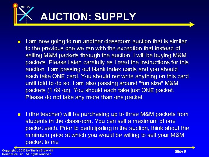 MB MC AUCTION: SUPPLY n I am now going to run another classroom auction