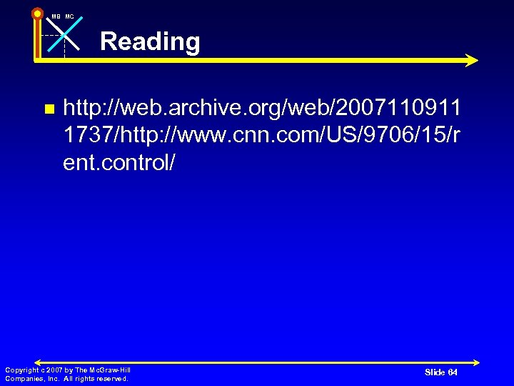 MB MC Reading n http: //web. archive. org/web/2007110911 1737/http: //www. cnn. com/US/9706/15/r ent. control/