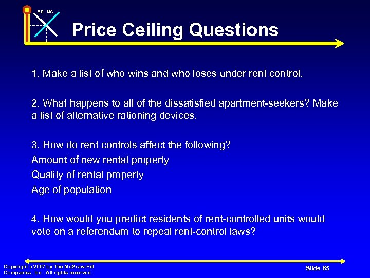 MB MC Price Ceiling Questions 1. Make a list of who wins and who