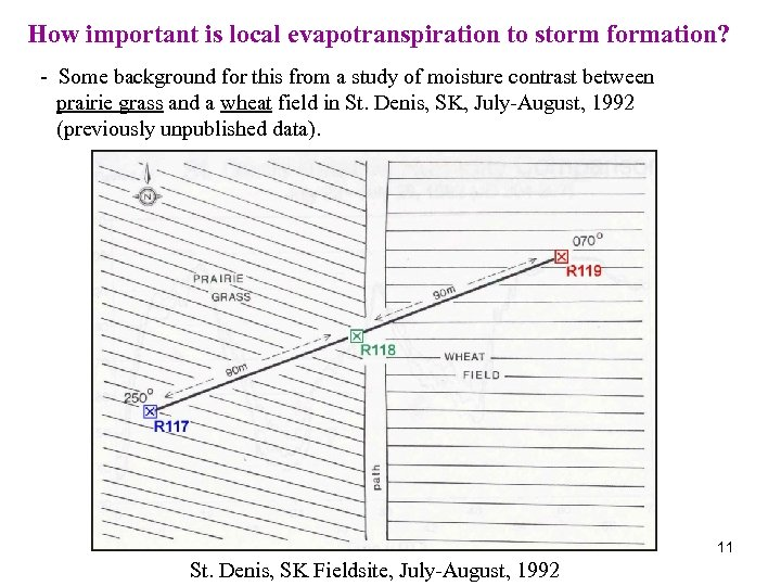 How important is local evapotranspiration to storm formation? - Some background for this from