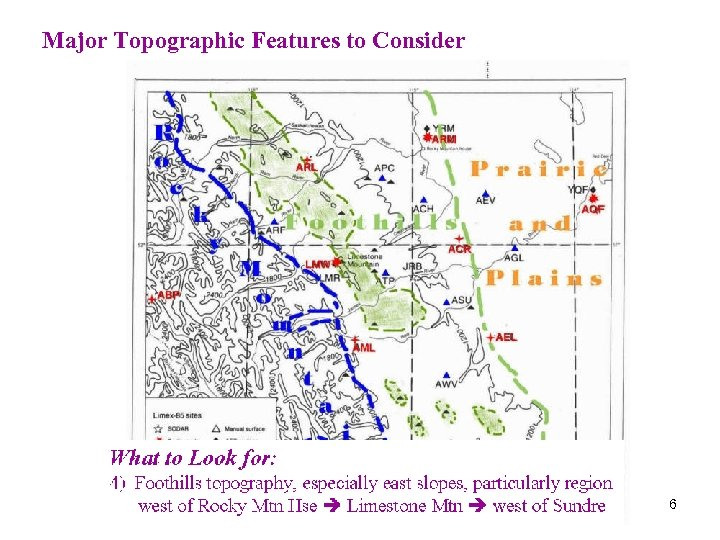 Major Topographic Features to Consider 6