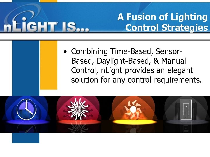 A Fusion of Lighting Control Strategies • Combining Time-Based, Sensor. Based, Daylight-Based, & Manual
