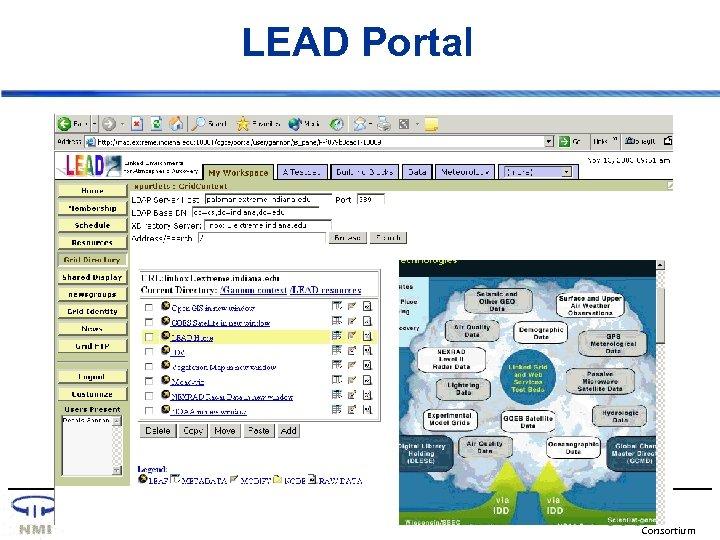 LEAD Portal OGCE Consortium