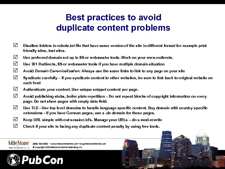 Best practices to avoid duplicate content problems R Disallow folders in robots. txt file
