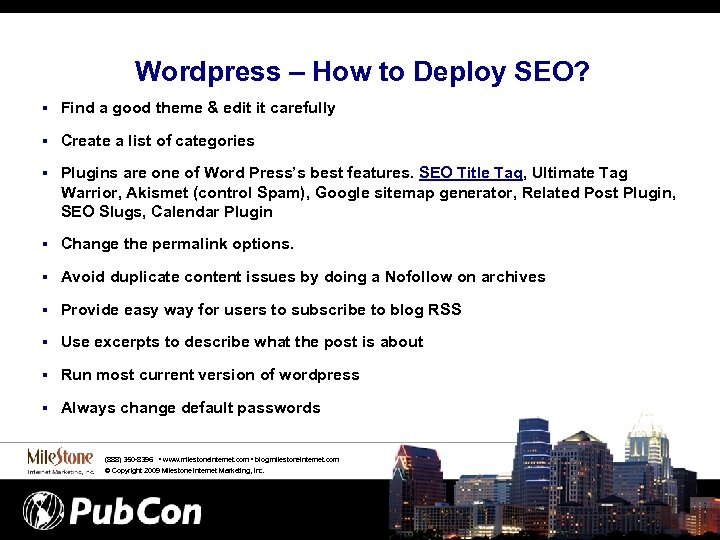 Wordpress – How to Deploy SEO? § Find a good theme & edit it