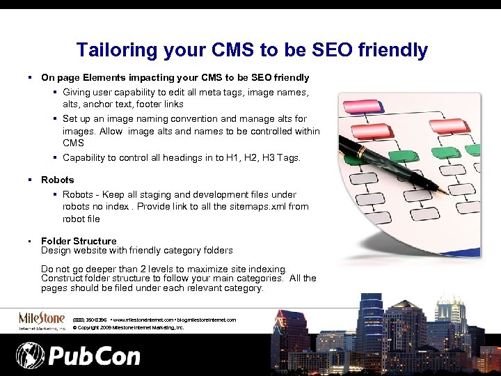 Tailoring your CMS to be SEO friendly § On page Elements impacting your CMS