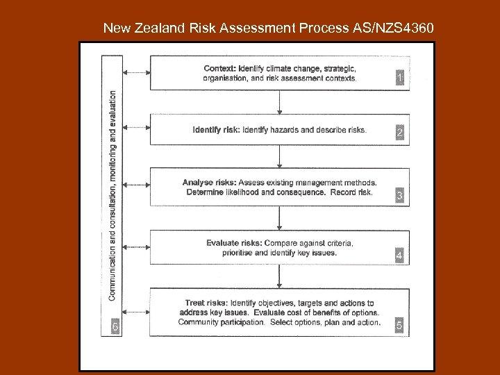 New Zealand Risk Assessment Process AS/NZS 4360