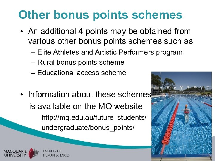 Other bonus points schemes • An additional 4 points may be obtained from various