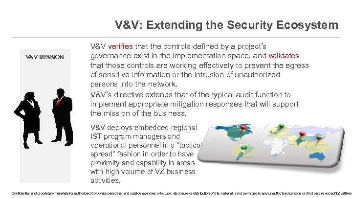 V&V: Extending the Security Ecosystem V&V MISSION V&V verifies that the controls defined by