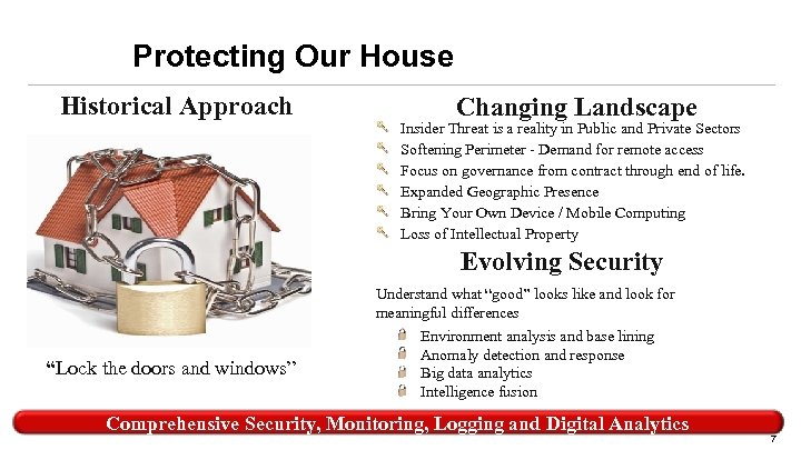 Protecting Our House Historical Approach Changing Landscape Insider Threat is a reality in