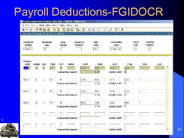 Payroll Deductions-FGIDOCR T 54