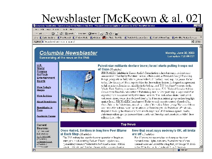 Newsblaster [Mc. Keown & al. 02]