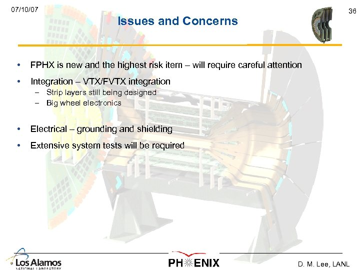 07/10/07 36 Issues and Concerns • FPHX is new and the highest risk item