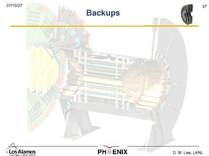 07/10/07 Backups 37 D. M. Lee, LANL