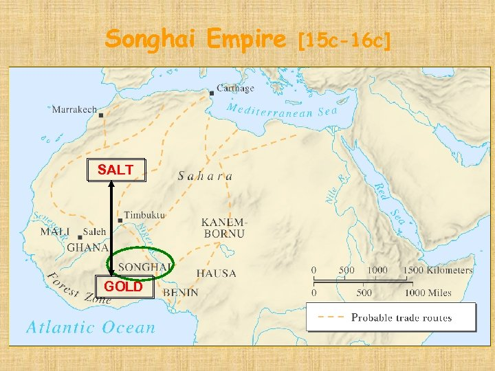 Songhai Empire SALT GOLD [15 c-16 c]