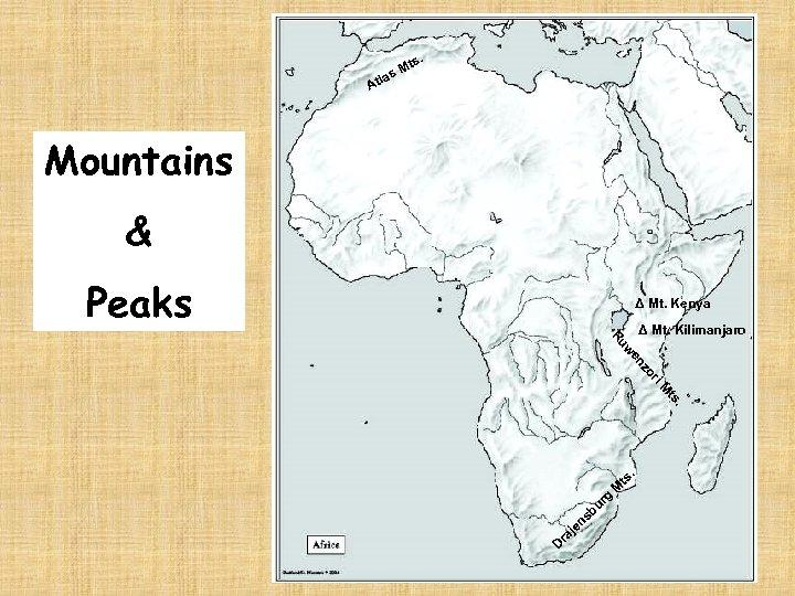 ts. M las At Mountains & Peaks Δ Mt. Kenya . ts i. M