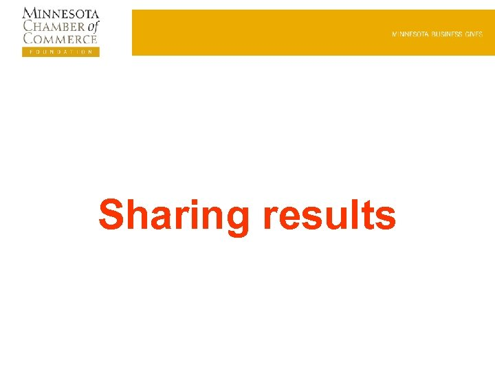 Sharing results