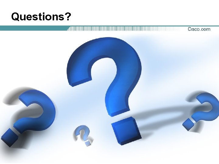 Questions? Presentation_ID © 2001, Cisco Systems, Inc. All rights reserved. 95