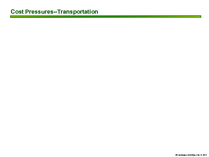 Cost Pressures--Transportation NE Landscape Committee, Feb 15, 2012
