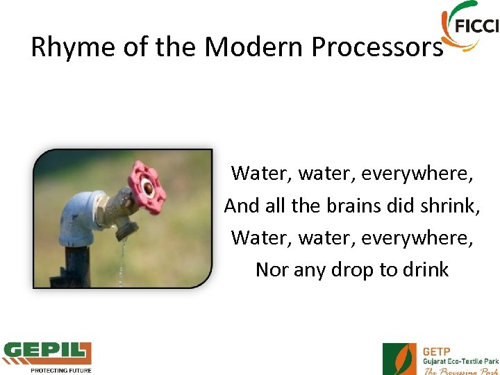 Rhyme of the Modern Processors Water, water, everywhere, And all the brains did shrink,