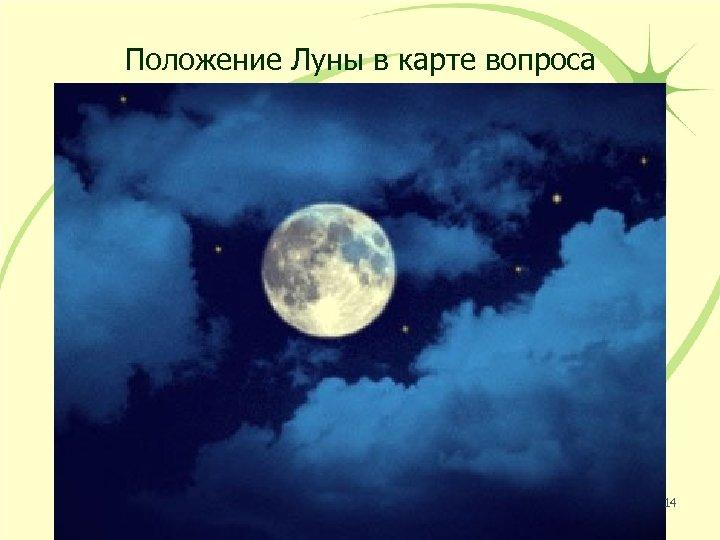 Положение Луны в карте вопроса 14