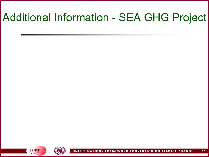 Additional Information - SEA GHG Project 10