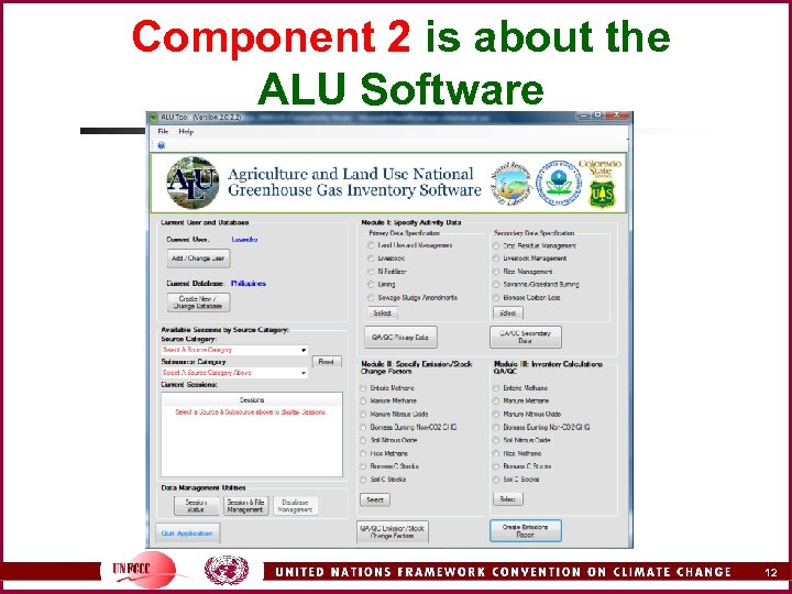 Component 2 is about the ALU Software 12