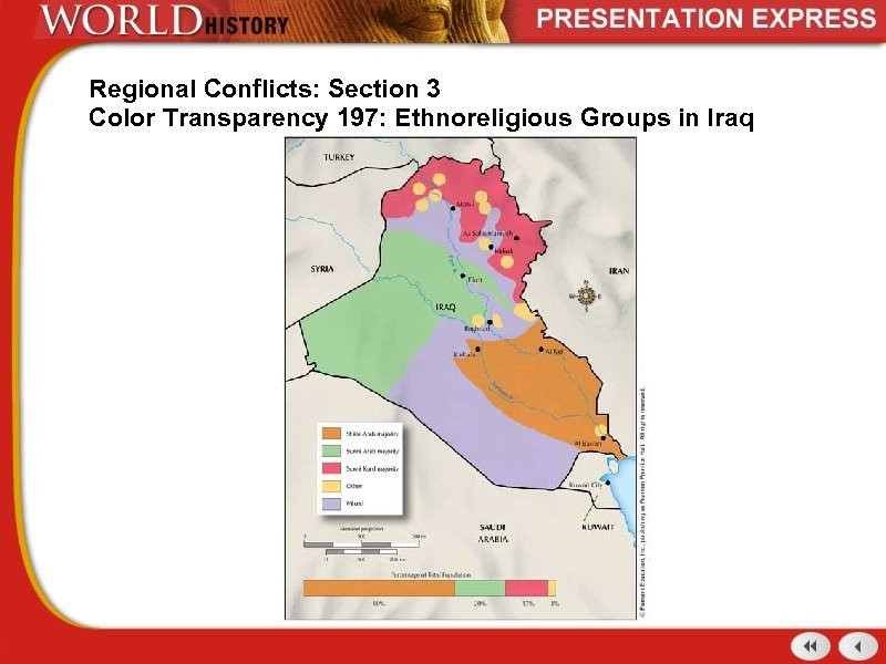 Regional Conflicts: Section 3 Color Transparency 197: Ethnoreligious Groups in Iraq