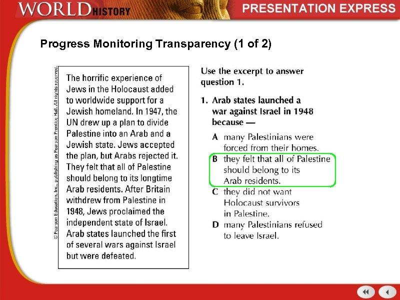 Progress Monitoring Transparency (1 of 2)