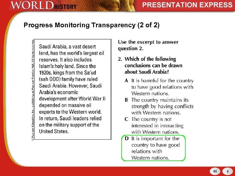 Progress Monitoring Transparency (2 of 2)