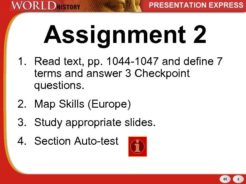 Assignment 2 1. Read text, pp. 1044 -1047 and define 7 terms and answer