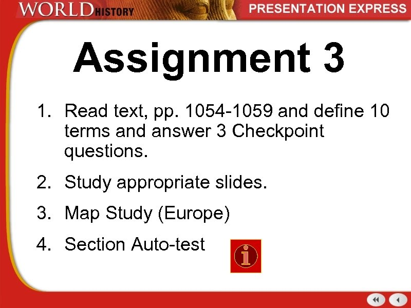 Assignment 3 1. Read text, pp. 1054 -1059 and define 10 terms and answer