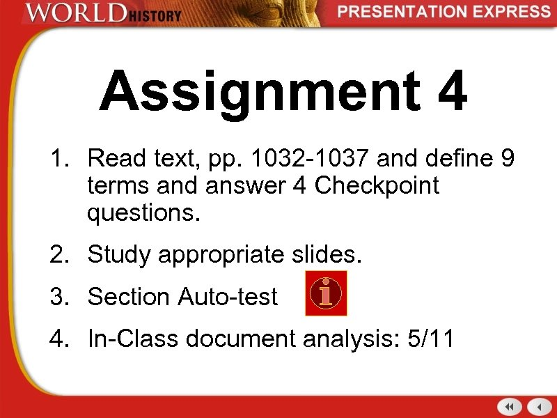 Assignment 4 1. Read text, pp. 1032 -1037 and define 9 terms and answer