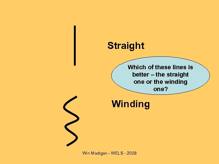 Straight Which of these lines is better – the straight one or the winding