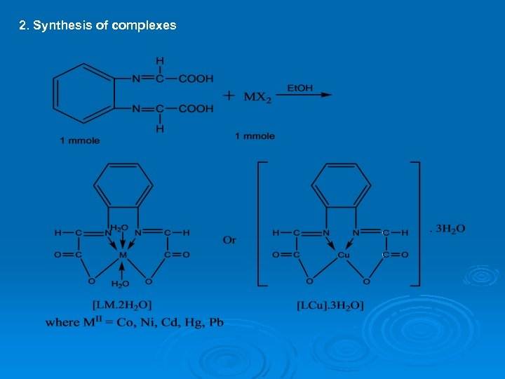 2. Synthesis of complexes