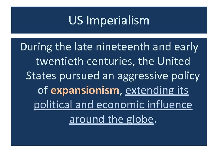 to what extent was late 19th century early 20th century us expansionism a continuation of past u s e Early twentieth-century united states expansionism a continuation and departure of past united states expansionism very much as there were many similarities in the us expansion during the late 19th and early 20th century compared to the beginning of the us early - more.
