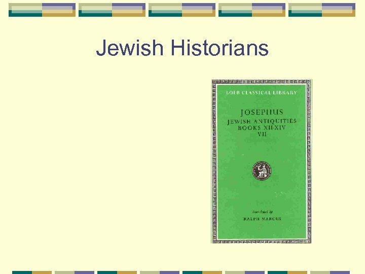 Jewish Historians