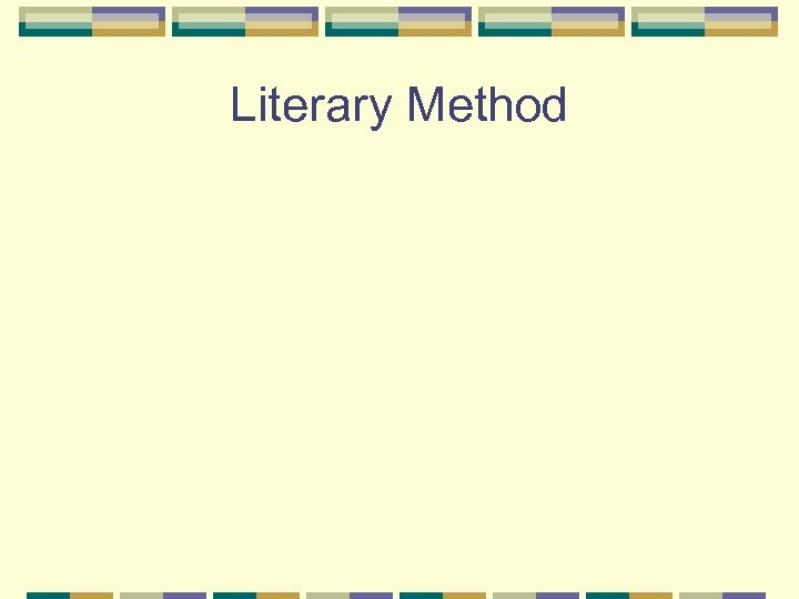 Literary Method